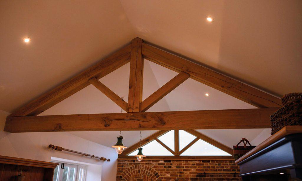 Indoor Wood Beam - Patience and Hilliard Builders in Norfolk