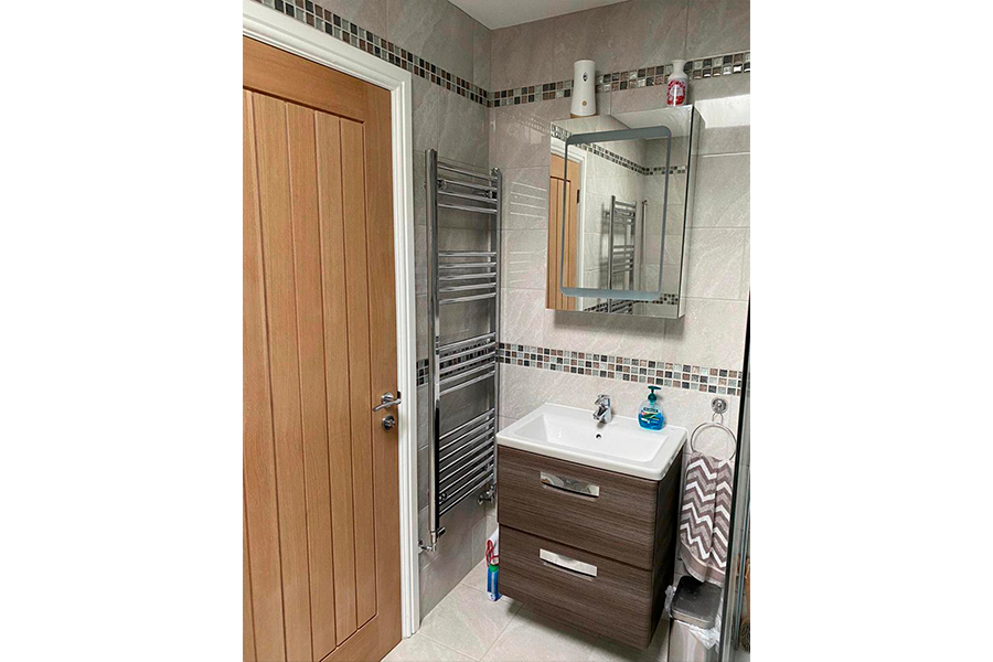 Radiator and Sink Unit - Patience and Hilliard Builders in Norfolk
