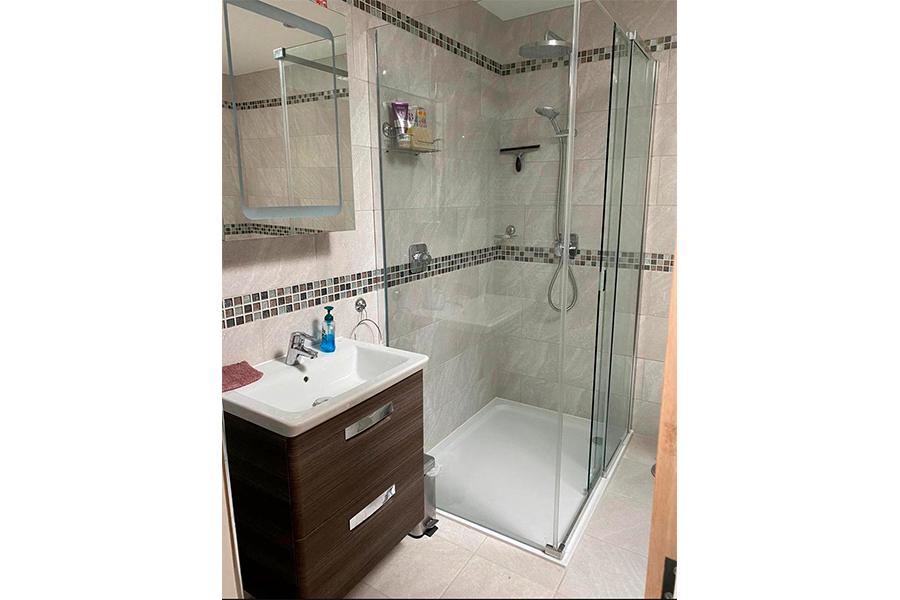New Bathroom Shower - Patience and Hilliard Builders in Norfolk