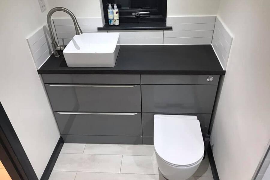 New Bathroom Installation - Patience and Hilliard Builders in Norfolk