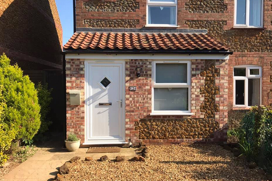 Front House Extension - Patience and Hilliard Builders in Norfolk