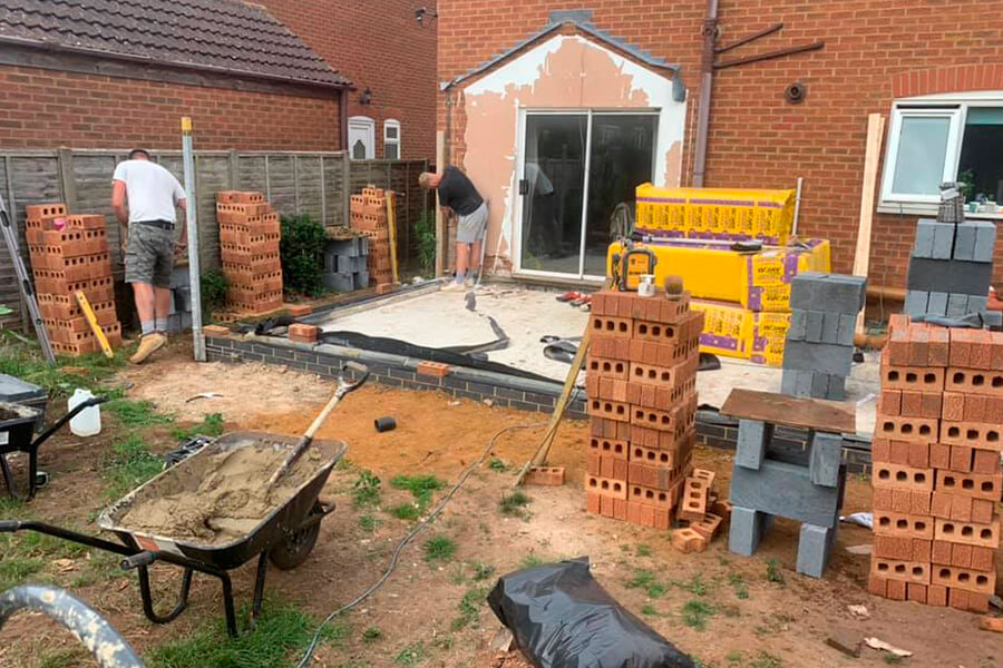 Groundworks - Patience and Hilliard Builders in Norfolk