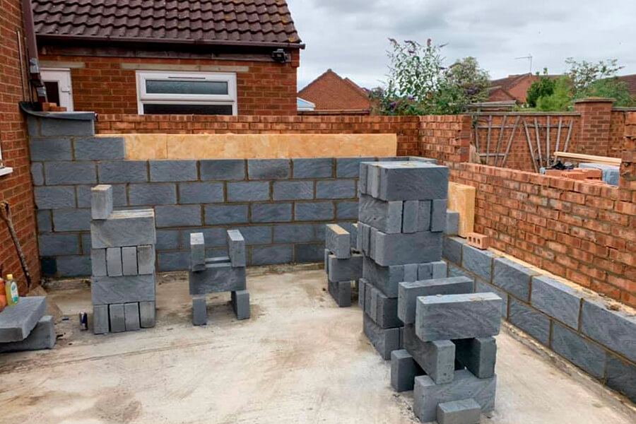 Block Work Extension - Patience and Hilliard Builders in Norfolk