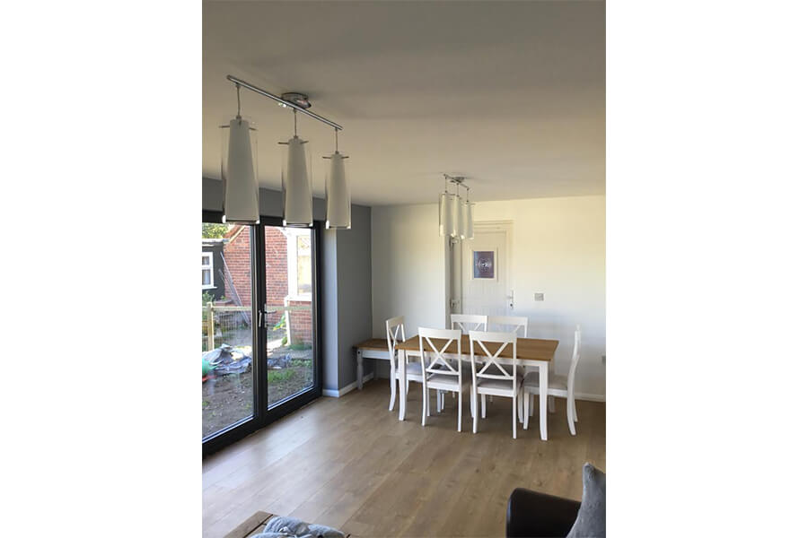 Extension Dining Room - Patience and Hilliard Builders in Norfolk