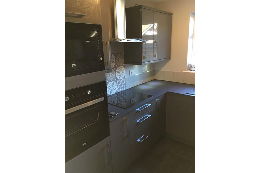 Grey Kitchen Units - Patience and Hilliard Builders in Norfolk