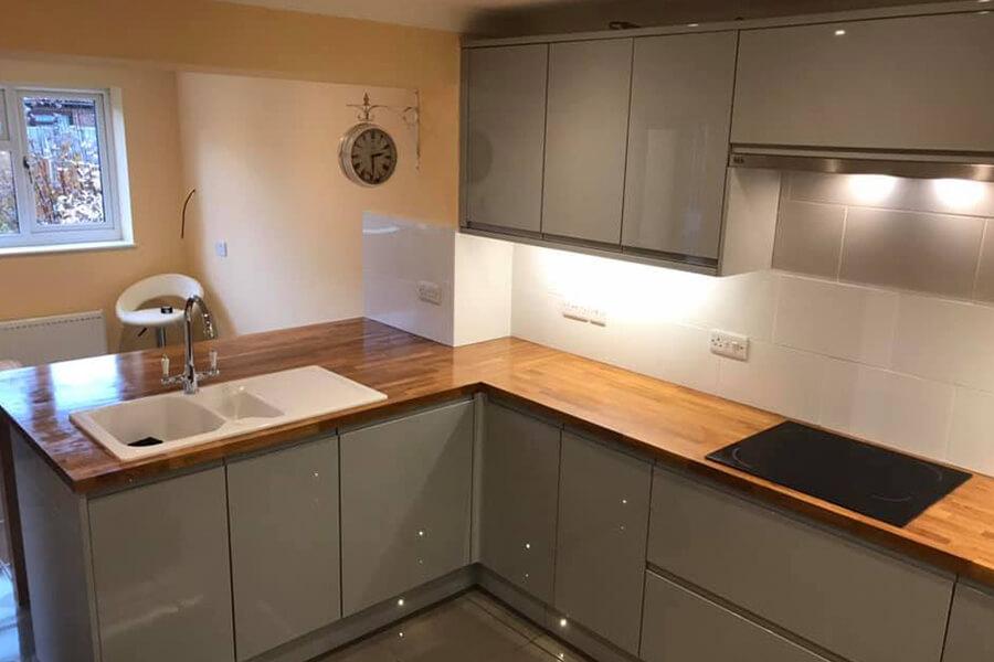 Wooden Worktop Kitchen - Patience and Hilliard Builders in Norfolk
