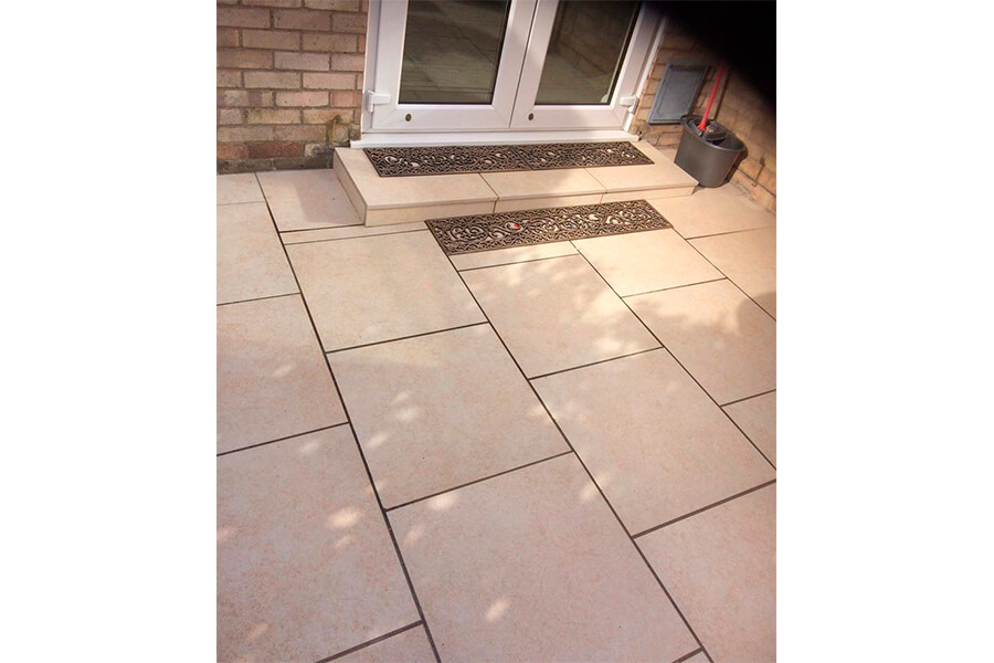New Patio Slabs - Patience and Hilliard Builders in Norfolk