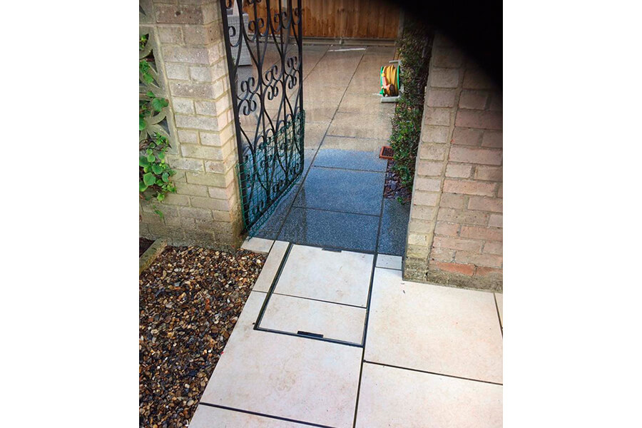 Two Colour Garden Patio - Patience and Hilliard Builders in Norfolk