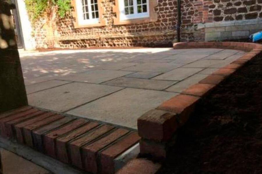 Raised Patio - Patience and Hilliard Builders in Norfolk