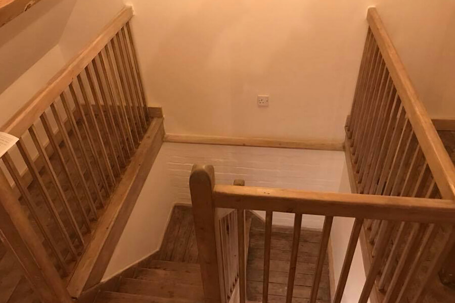 Staircase - Patience and Hilliard Builders in Norfolk