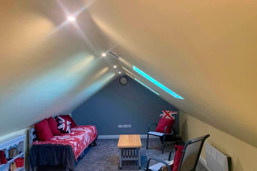 Loft Conversion with Spot Lights - Patience and Hilliard Builders in Norfolk